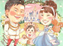 作家madokaの似顔絵 テーマ:ディズニーランドで子供とデート